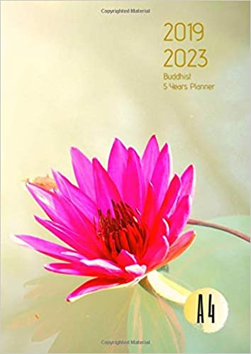 Amazon.com: 2019-2023 Five Year Planner A4 Buddhist Goals ...