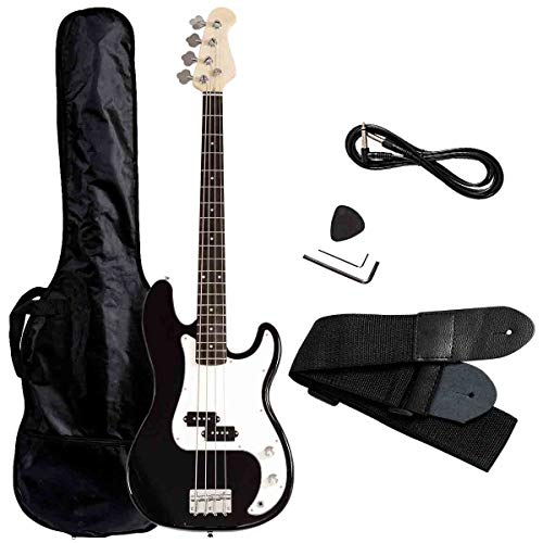 Safstar Electric Bass Guitar Full Size 4 Strings with Amp Cord Strap Bag Package for Starter Beginners ()