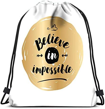 Randell Gym Drawstring Backpack Sport Bag The Trouble You Think You Have Time Lightweight Shoulder Bags Travel College Rucksack for Women Men