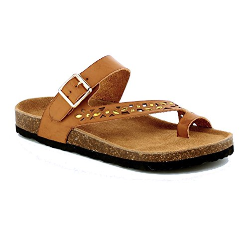 Womens 07 100 Tan Anna Glory Anna Silver Sandal Shoes Shoes qtfwpxR4