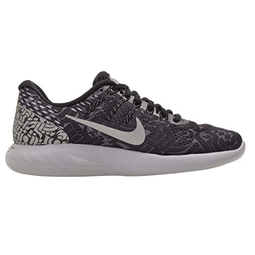 Nike Mujeres Wmns Lunarglide 8 Rostarr, Negro / Plata Reflectante - Gris Oscuro Negro