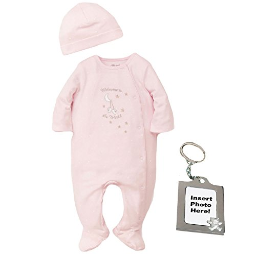 Little Me Preemie Newborn Baby Footie Sleep and Play Pajamas Footed Sleeper Hat for Boys and Girls