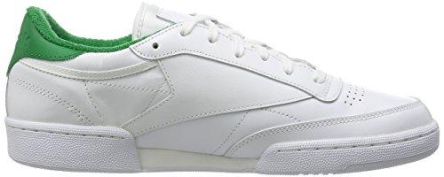 Reebok Club C 85 El, Zapatillas de Tenis para Hombre Blanco / Verde (White/Glen Green)