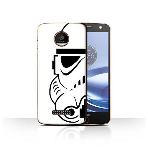 Audio Force Helmet - STUFF4 Phone Case / Cover for Motorola Moto Z Force/Droid / Stormtrooper Design / Assault Trooper Helmet Collection