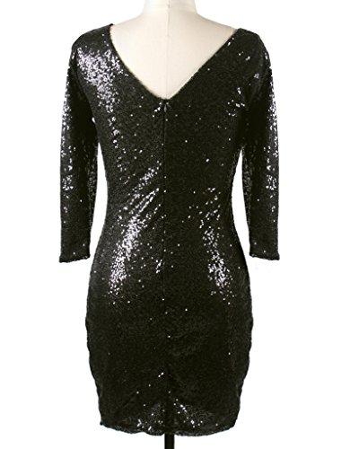 linea Donna YR a a Vestito Lover Maniche ad Nero 4 Dress 3 tvvqBrwU