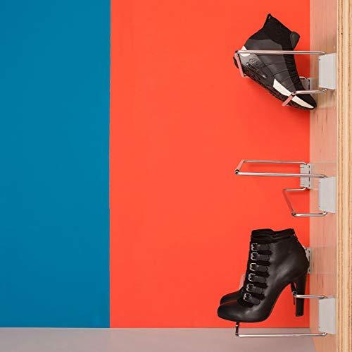 Wood Technology Adjustable Width Shoe Racks - Set of 6 ()