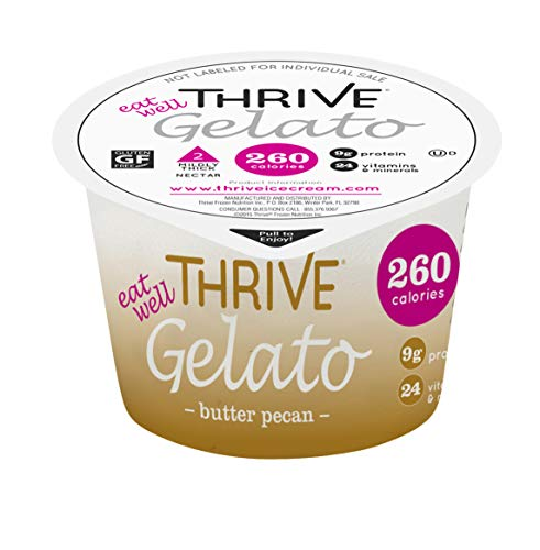Thrive Frozen Nutrition, Butter Pecan Gelato, 4 oz Cups (36 -