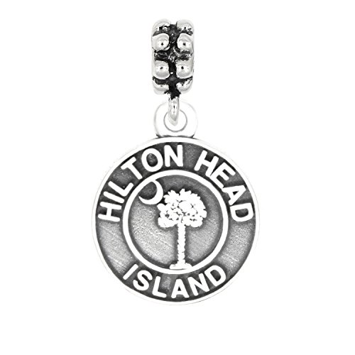 Lgu Sterling Silver Oxidized Hilton Head Island South Carolina Dangle Bead Charm ()