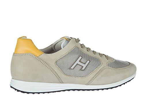 Hogan Uomo Scarpe Sneakers In Pelle Da Uomo Olympia H205 Beige
