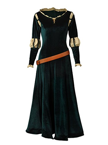 CosFantasy Princess Merida Cosplay Costume Long Dress Halloween