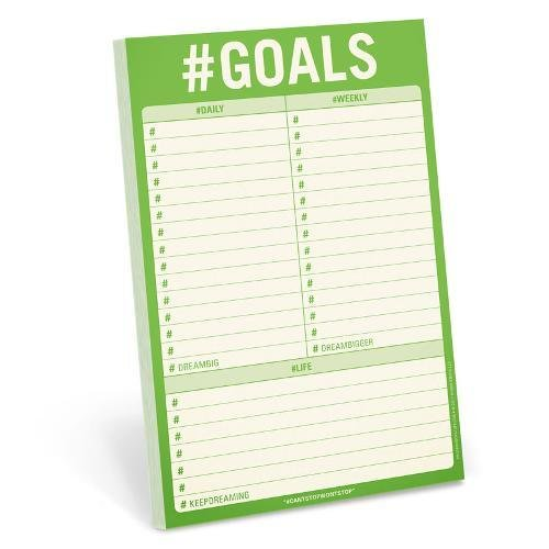 Knock Knock #Goals Pad