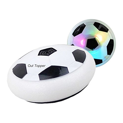 Indoor Outdoor Air Power Soccer Hover Disk Ultraglow with Foam Bumpers and Light Up LED Lights - Christmas Gift for Kids - Indoor Soccer Disc