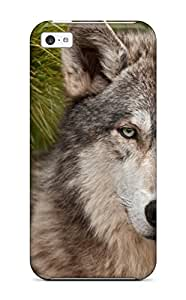 High Quality MeaganSCleveland Animal Wolf Skin Case Cover Specially Designed For Iphone - 5c
