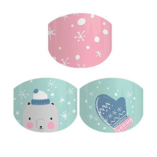 Juniors Snowflake - Jamberry Nail Wraps - Snowflake Snuggles Jr. - Juniors Sizing Full Sheet - Limited Edition