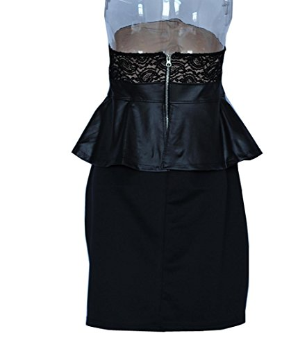 Vestido Xgg Delgadas Bodycon Las Mujeres Más Clubwear Atractivo Xxxl Pecho Xxl De Tamaño Del Envuelto Encaje Lápiz 7gr7RwvHqS