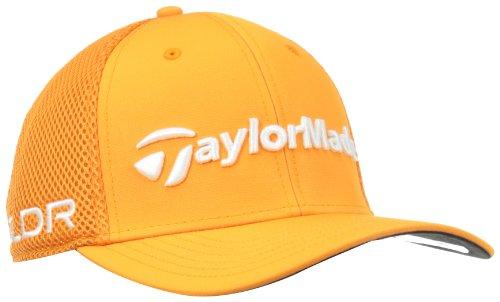 Orange Cap Fitted - TaylorMade Tour Cage Hat, Orange, Small/Medium