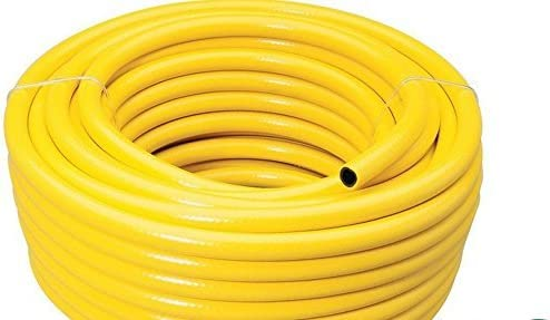 50 Metre Yellow Garden Hose Pipe 50M Reinforced Anti-kink Water Hosepipe