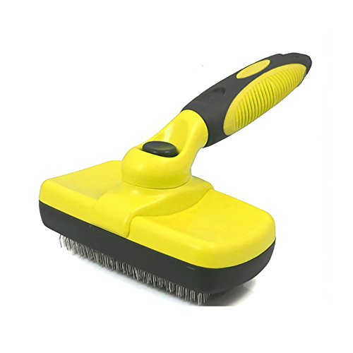 vmree Self Cleaning Slicker Brush, Gently Removes Loose Undercoat, Mats Loose and Tangled Hair, Your Dog or Cat Will…