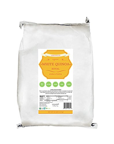 CEREAUSLY Organic White Quinoa in Bulk | Restaurants | Wholesale | Bolivian | Royal | NON-GMO | 10lb