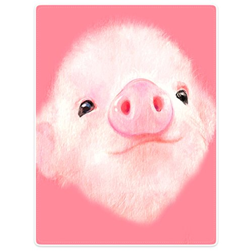 TSlook Super Soft Warm Blankets Sofa Bed Throw Cute Pink Pig Big Nose Girl 60
