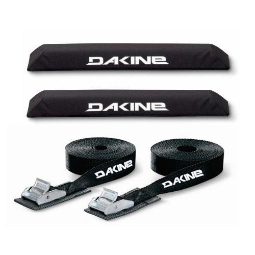 "Dakine 18"" Aero XL EXTRA LARGE Black Surfboard/SUP/Kayak Roof Car SUV Rack Pad Set with 12"