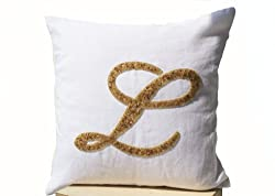 Handcrafted Gold Sequin Throw Pillow Cover
