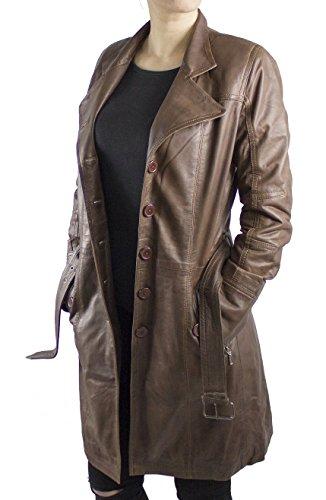 LEDERJACKE - Abrigo - Abrigo - para mujer marrón