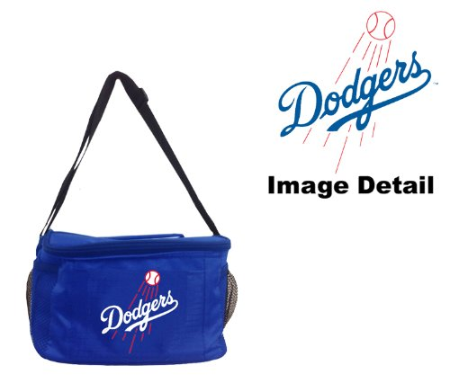 - Los Angeles Dodgers MLB Team Logo 6-Sports Drink Beer Water Soda Beverage Can Insulated Picnic Outdoor Party Beach BBQ Kooler Cooler Lunch Bag Tote - 6-Pack Bag