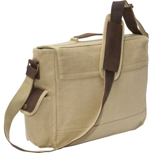 69d21f409b11 Rothco Vintage Trailblazer Laptop Bag with Leather Accents ...