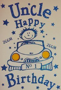 Bargain Giftz Uncle Birthday Card With Blue Envelope