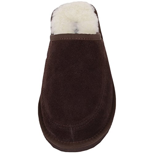 Lining Marron EU Rubber Adulte and with 37 Chaussons SNUGRUGS Mixte Sole Suede Wool wZqRyxtH