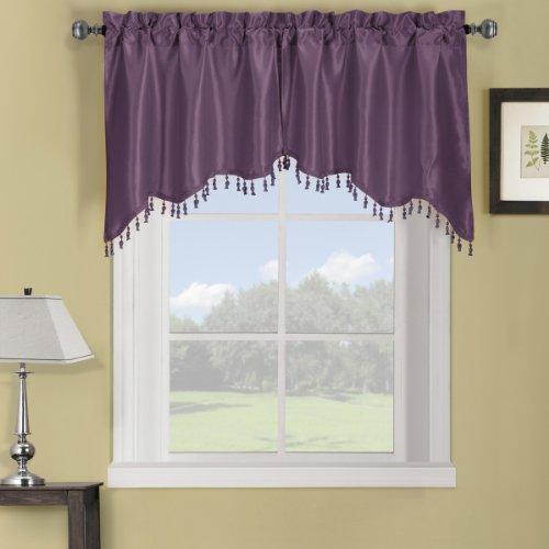 Elegance Solid Rod Pocket Window Treatment- Panels, Valances