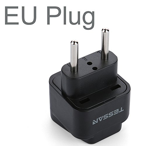 TESSAN Universal Travel Plug Adapter USA to The most of Europe Travel Prong Adapter Plug Kit for the most of Europe(Type C) - 3 Pack
