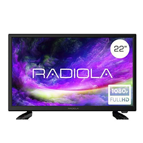 Televisor Led 22 Pulgadas Full HD 12V, Radiola LD22100K. Especial Caravana, Resolución 1920 x 1080P, HDMI, VGA, USB…