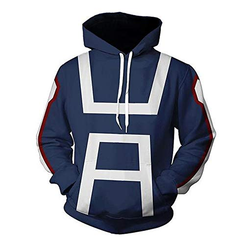 3D Hoodie Boku No Hero Academia My Hero Academia Izuku Midoriya Hoodies Cosplay Costume Training Jacket Unisex (Bule#, M)