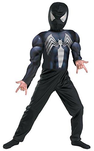 [SpiderMan Black Suit Spiderman Full Dress Up Costume] (Black Suit Spiderman Costume)