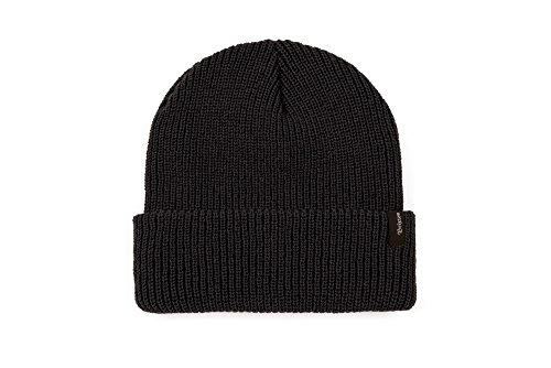Brixton Men's Heist Beanie Hat, New Black, One (Beanie Skate Cap Hat)
