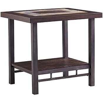 Ashley Furniture Signature Design   Gallivan Casual Two Tone Rectangular  End Table   Multicolored