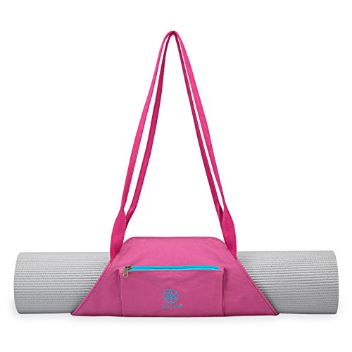 Gaiam On-The-Go Yoga Mat Carrier, Fuchsia Sky