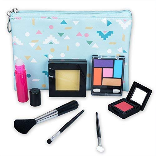 (TOKIA Pretend Play Makeup for Toddlers and Little Girls with Cosmetic Bag ( Not Real Makeup No Mess)