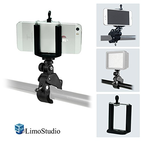 LimoStudio Tilt Mount Bracket Clamp with iPhone 6, 5S, 5, Galaxy S5, S4, Cellphone Holder Clip, Photo Video Studio, AGG1873 by LimoStudio