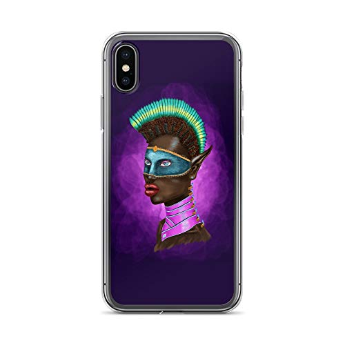 iPhone X/XS Case Anti-Scratch Phantasy Imagination Transparent Cases Cover Warrior Princess Fantasy Dream Crystal Clear