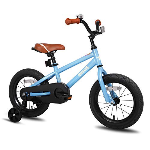 JOYSTAR 16 Inch Kids Bike for 4 5 6 7 Years Boys, Child Bicycle with Training Wheels for Boy, Blue (85% Assembled) ()