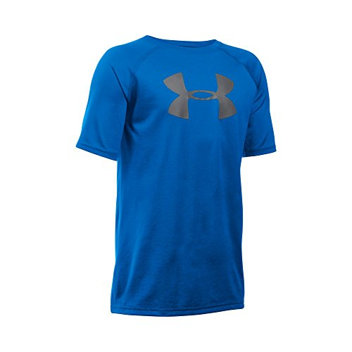 Under Armour Boys' Tech Big Logo Short Sleeve T-Shirt, Ultra Blue/Graphite, Youth Large