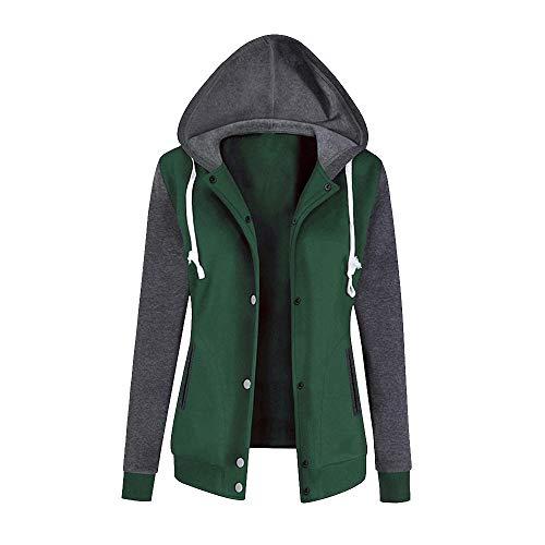 Pandaie Womens ... Jacket Coat,Fashion Womens Long Sleeve Hoodie Sweatshirt Baseball Uniform Causal Tops Blouse (Uniform Baseball Sleeveless)