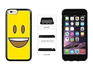 Bright Yellow Eyes Open with Teeth Face TPU RUBBER SILICONE Phone Case Back Cover Apple iPhone 6 (4.7 inches)
