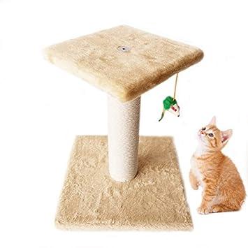 Maxmer Postes Rascadores Gatos Rascador Torre Gatos, Color Beige: Amazon.es: Productos para mascotas