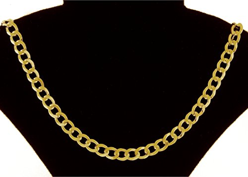 18K Solid Yellow Gold Heavyweight 5.5mm Cuban Curb Link Chain Necklace- Italian Design- 30''-18 Karat by PORI JEWELERS (Image #2)
