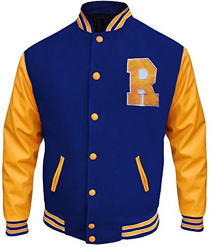 Archie KJ APA Riverdale Varsity Jacket – R Logo Blue and Yellow Jacket (L)