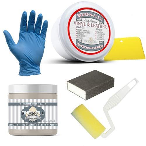 Heirloom Traditions Paint Bond-N-Flex Vinyl & Leather Repair, 8oz Kit (Burlap)